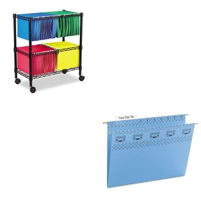 KITALEFW601426BLSMD64041 - Value Kit - Smead Tuff Hanging Folder with Easy Slide Tab (SMD64041) and Best Two-Tier Rolling File Cart (ALEFW601426BL) by Smead