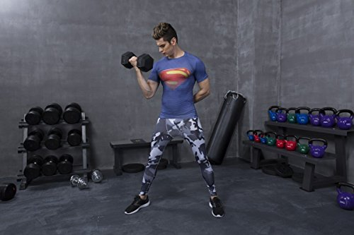 Red Plume Men's Compression Tights Fitness Shirt,Casual Quick-Dry Sports T-Shirt (M) by Red Plume (Image #5)