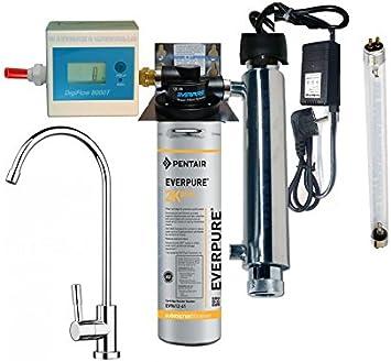 Purificador agua Kit Everpure 2 K Plus con esterilizador UV y ...