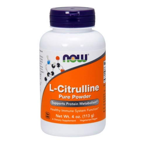 NOW Foods L-Citrulline Powder, 4 ounce Pack of 2