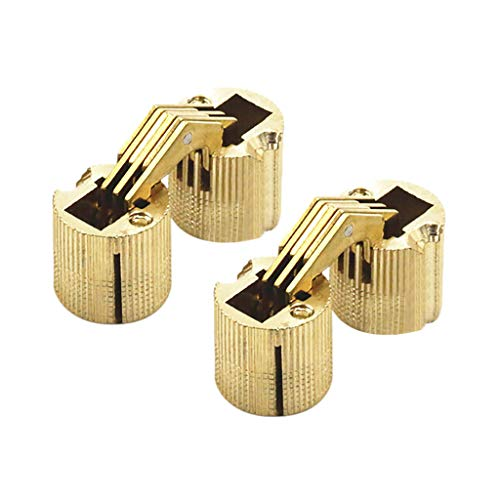Lemoning✿ Cylindrical Barrel Invisible Furniture Hinge Concealed Hinge DIY Wooden -