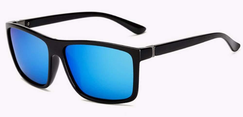 9d2e3bf16a WSKPE Gafas De Sol Diseño Clásico De La Marca Gafas De Sol Polarizadas  Hombres Plaza Circular Gafas De Sol Uv400 para Gafas Macho (Marco Negro  Mate Lente ...