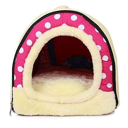 Casa para gatos perros cama mascota habitacion, 2 en 1 Casa y Sofá Antideslizante Plegable