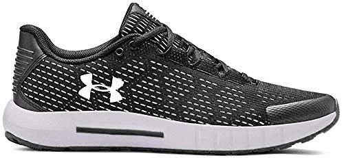 UNDER ARMOUR Women's Micro G Pursuit SE Running Shoe, Black (002)/White, 8