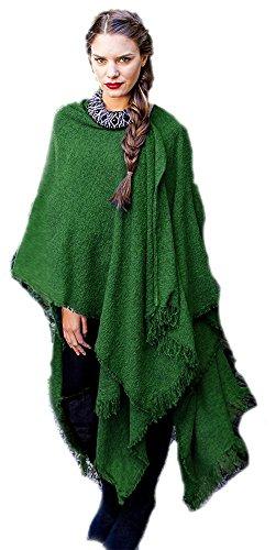 Kerry Woollen Mills Celtic Ruana Long Shawl Irish Wool Lambswool Kelly Emerald Green by Kerry Woollen Mills