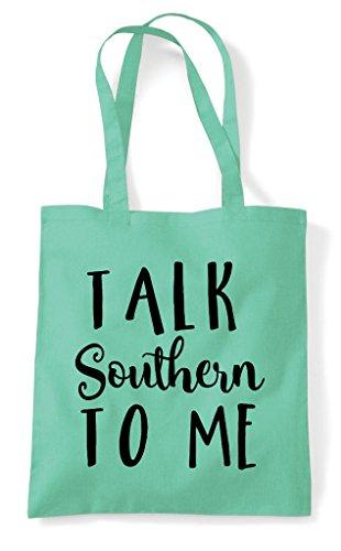 Tote Mint Talk Shopper Bag Me To Southern fwHSt