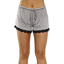 Christian Siriano New York Womans Pajamas Shorts - Lace Trim & Pocket Sleepwear