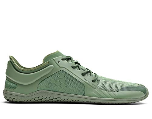 vivobarefoot Primus Lite Ii Bio, Womens Vegan Light Movement Breathable Shoe with Barefoot Sole Green