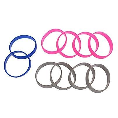 WOVELOT Silicone Rubber Bracelet Cuff Wristband Wrist Band 12mm Estimated Price £1.96 -
