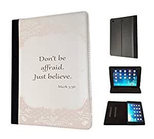 502-Shabby Chic Floral Roses Christian Quote Don't Be afraid Just BelieveDesign Fashion Trend TPU Leather Flip Case For All Apple iPad Mini 1 2 & ipad mini Retina 1 2 3 / Ipad 2 3 & 4 / ipad air 1 2013 / ipad Air 2 2014 Full Case Flip TPU Leather Purse Pouch Defender Stand Cover - Choose your ipad model from the drop box under by ruishername