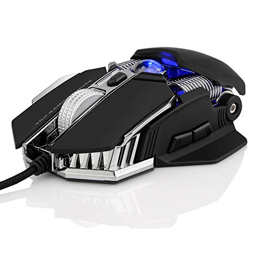 Chartsea Wired Gaming Mouse [ 2750 DPI ] Professional 9 Buttons RGB LED Optical Mice For PC Laptop (Black)