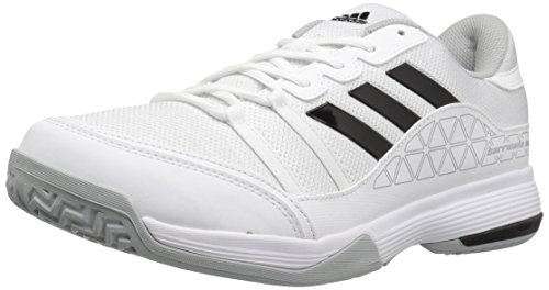 adidas Men's Barricade Court Wide Tennis Shoes White/Black/Light Onix (10 W US)