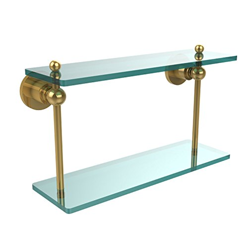 Review Allied Brass AP-2/16-PB 16-Inch by 5-Inch Double Glass Shelf By Allied Brass by Allied Brass