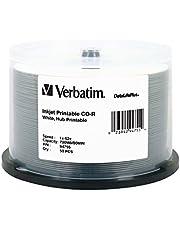 VERBATIM 94755 CD-R 700MB 52X DataLifePlus White Inkjet Printable, Hub Printable - 50pk Spindle