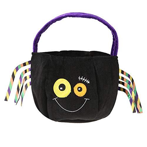 sikiwind Halloween Candy Bag Bat Spider Velvet Basket