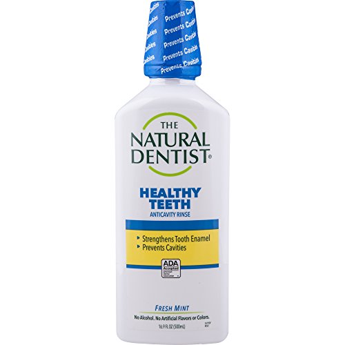 The Natural Dentist Healthy Teeth Fluoride Rinse, Fresh Mint, 16.9 Ounce Bottle, Alcohol-Free Mouth Rinse for Daily Use, Strengthens Tooth Enamel, Prevents Tooth Decay & Cavities ()