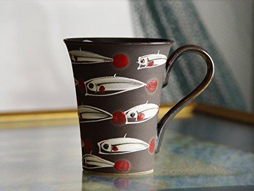 - Stoneware Fish Mug, Black Pottery Coffee Cup, Handmade Tea Cup, Hand Painted Mug, Wheel Thrown Strong and Durable Mug, Danko Pottery