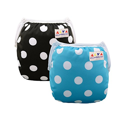 Alva Baby 2pcs Pack One Size Reuseable Washable Swim Diapers SW14-16