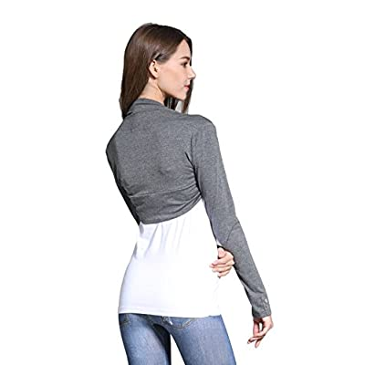 Sofishie Long Sleeve Bolero Shrug - Gray - XS at Women's Clothing store