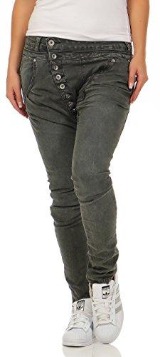 SKUTARI - Jeans - boyfriend - Donna verde oscuro