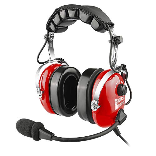 Aviation Headset, PNR Headsets for Pilots, GA Plugs, Comfortable Ear Pads with Flexible Boom Mic and Carrying Case