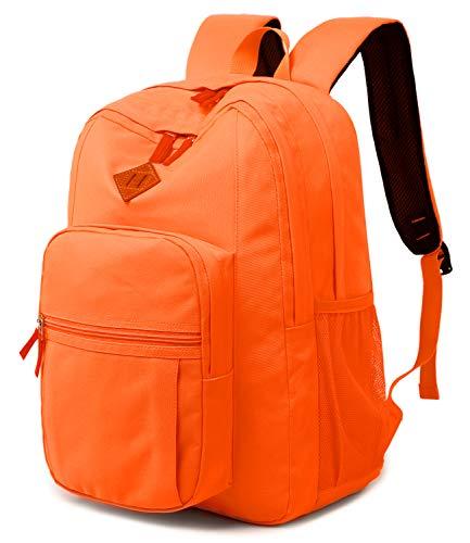Abshoo Classical Basic Womens Travel Backpack For College Men Water Resistant Bookbag (Tangerine) (Orange Backpack)