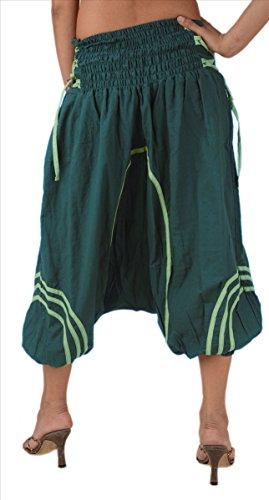 Yoga Skirts Afghani Coton amp; Capri 100 pantalon harem Scarves De 6 Green Sns qFvSwAq