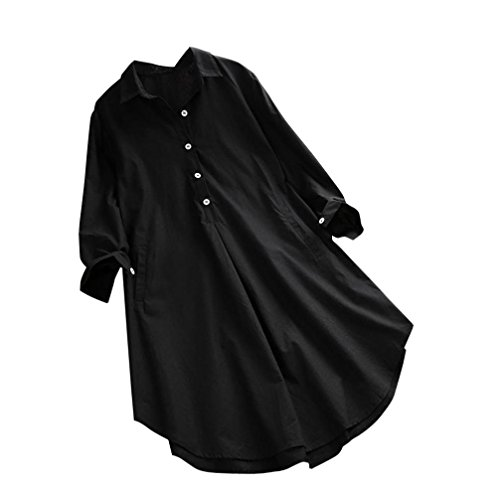 vermers Womens Plus Size Tops Women Fashion Long Sleeve T Shirts Loose Casual Pocket Button Blouse