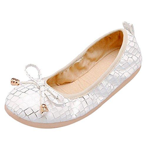 Coolcept Zapatos de Tacon Plano Para Mujer White-1