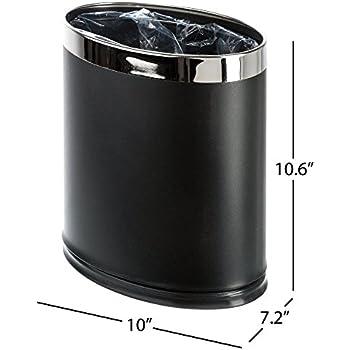 Delightful Brelso U0027Invisi Overlapu0027 Metal Trash Can, Open Top Small Office Wastebasket,