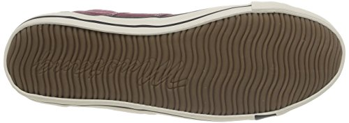 Mustang 4058-401 Zapatillas de lona hombre Rouge (55 Bordeaux)