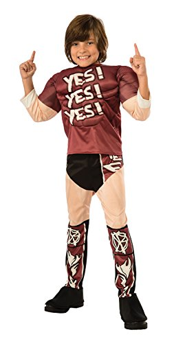 Rubie's Costume WWE Daniel Bryan Muscle Chest Child Costume, (Wwe The Rock Costume)