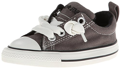 Converse Kids Unisex Chuck Taylor All Star Street Ox (Infant/Toddler) Charcoal Sneaker 8 Toddler M -