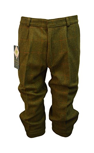 Walker and Hawkes Men's Derby Tweed Shooting Plus Fours Breeks Trousers 38 Dark Sage Wool Tweed Pants