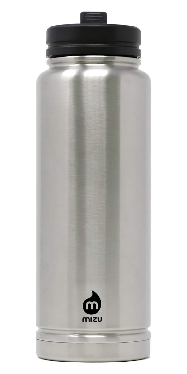 V12 Stainless Steel Double Wall Vacuum Insulated Water Bottle with 360 Straw Lid 36 oz BPA Free Mizu