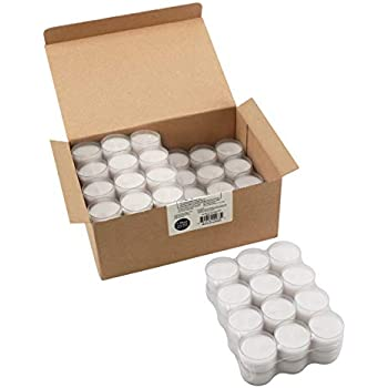 Stonebriar Unscented Long Clear Cup Tea Light Candles 6 to 7 Hour Extended Burn Time, White, Bulk, 96 Pack