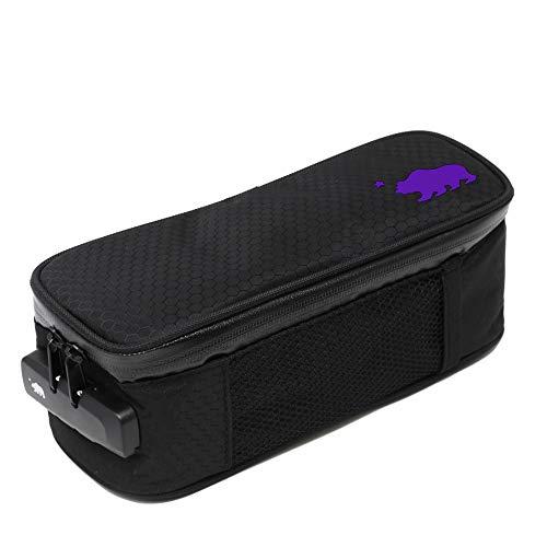 (Cali Crusher 100% Smell Proof Soft Case w/Combo Lock (9.5in x 4in x 3.5in) (Black/Purple))