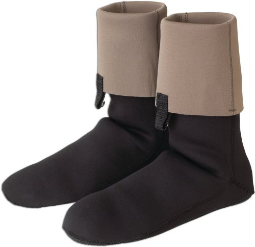 Caddis Black Neoprene Bootie with Gravel Guards, Large ()