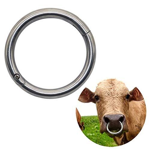 CHUANGRONG-US Bull Cow Cattle Bovine Nose Ring Stainless Steel Farm Animal Tool