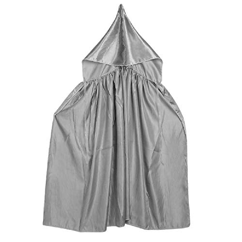 Hooded Robe Cloak Cape Halloween Party Cosplay Costumes for Kids Children Gift Gray OneSize
