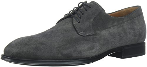 Aquatalia by Marvin K. Mens Decker Suede Oxford Charcoal