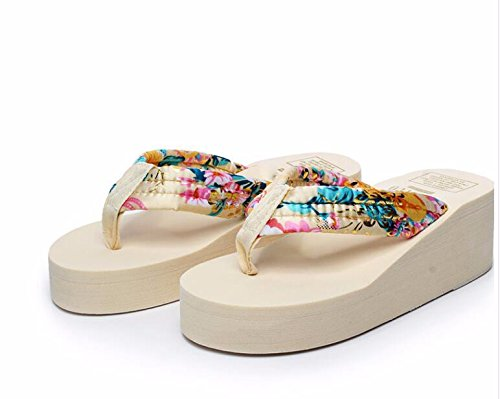 GTVERNH Sommer Fuß - Clip Fuß Sommer Steigung Ferse Coole Schuhe Weiblich Schleudern Beweise Flip - Flops Und Dicken Hintern Muffin Beach - Schuhe. ae2307