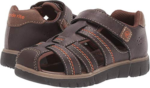 Stride Rite boys Wallace Sandal , brown 12 M US Little Kid