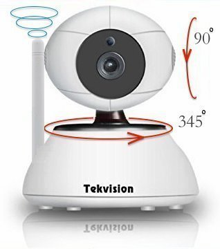 Tekvision Plug & Play Easy Set Up Megapixel 720p HD Wireless Pan/Tilt 2-Way Audio IP Camera Day Night Vision For Sale