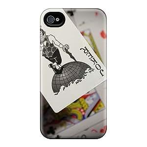 IWuoNTM2691qjNVl ConnieJCole Joker Card Wallpaper Durable Iphone 4/4s PC Flexible Soft Case WANGJIANG LIMING