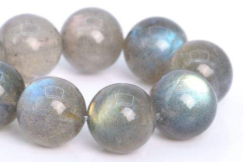 10mm Natural Translucent Light Gray Lradorite Beads Round Beads 7.5'' Crafting Key Chain Bracelet Necklace Jewelry Accessories Pendants -