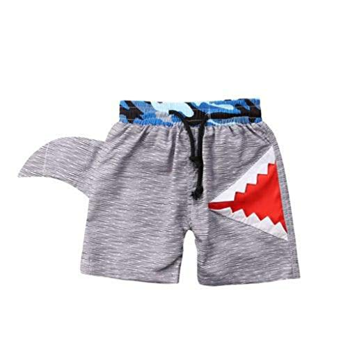 Luonita Toddler Kids Baby Boys Shark Modeling Printing Swimming Board Shorts Pants -