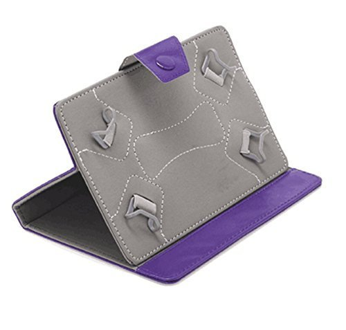 PHEVOS 7 inch Tablet Pc Case cover, Foldable and Solid Stand Case, Compatible with All Universal 7 inch 16:9 Tablets PC(purple) (Tablet Pc Purple)