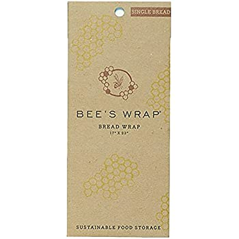 "Bee's Wrap Sustainable Reusable Food Storage Bread Wrap 17"" x 23"""