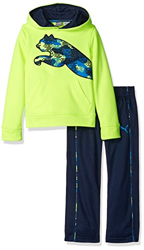 PUMA Boys' 2-Piece Tech Fleece Hoodie Wrapped Cat and Pant Set